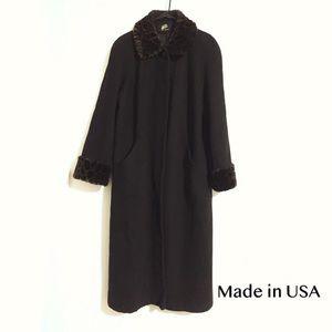 Jackets & Blazers - Vintage Classy Coat Made in USA Black Coat